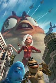 MONSTERS VS. ALIENS (2009) *** movie review by COOP