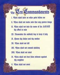 list of the ten commandments