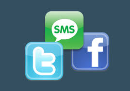 facebook,sms,twitter,sms di facebook