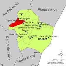 Aquí Mapa del camp de morvedre