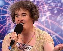Susan Boyle, whose performance
